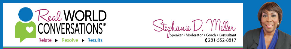 Stephanie D. Miller - Speaker, Author, Consultant and REAL Conversation Specialist